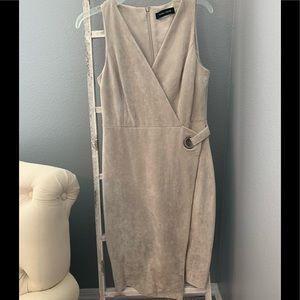 Ivanka Trump cream faux suede dress